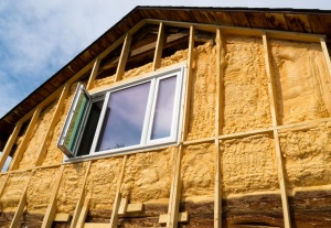 Thermal insulation of a wooden house